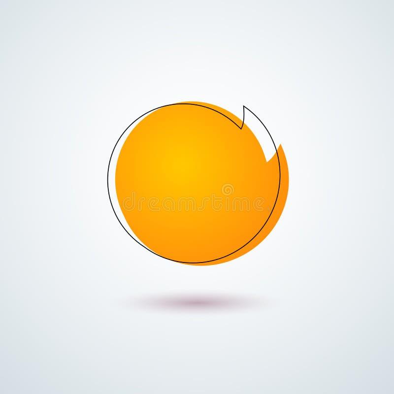 Elemento rotondo arancio luminoso di progettazione del frame dell'insegna dell'autoadesivo dell'etichetta di prezzi dell'etichett royalty illustrazione gratis