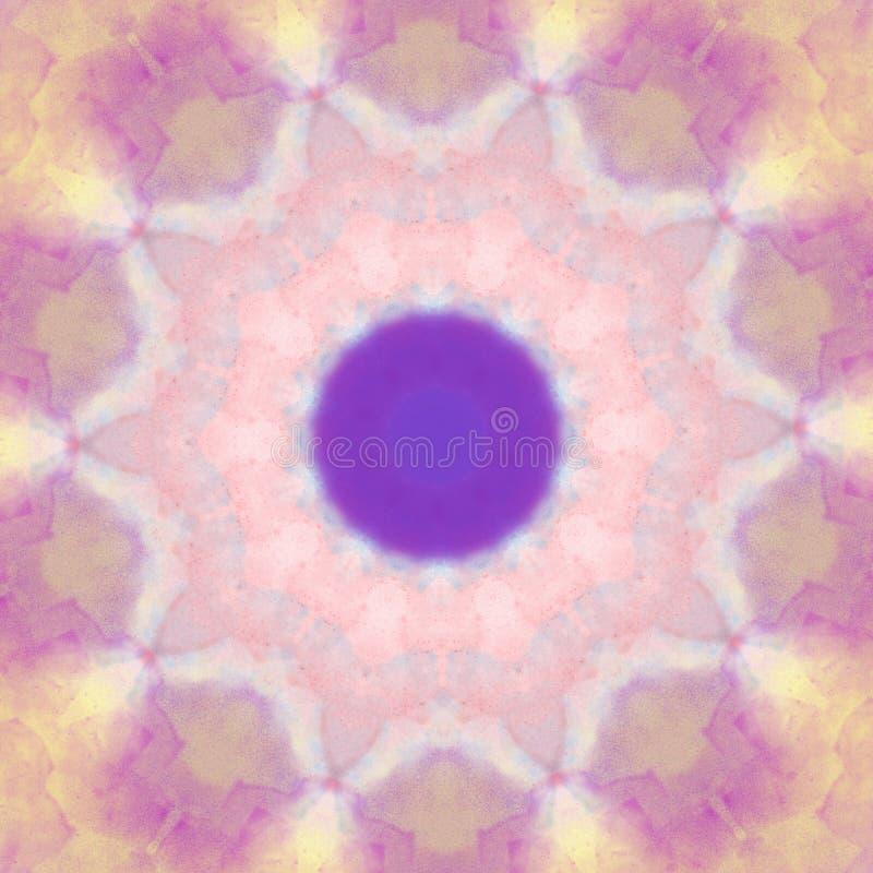Elemento rotondo di progettazione del cerchio geometrico del modello di stile della mandala di colore pastello illustrazione vettoriale