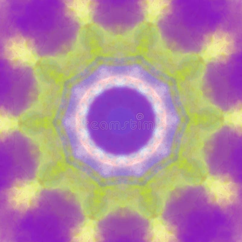 Elemento rotondo di progettazione del cerchio geometrico del modello di stile della mandala di colore pastello royalty illustrazione gratis