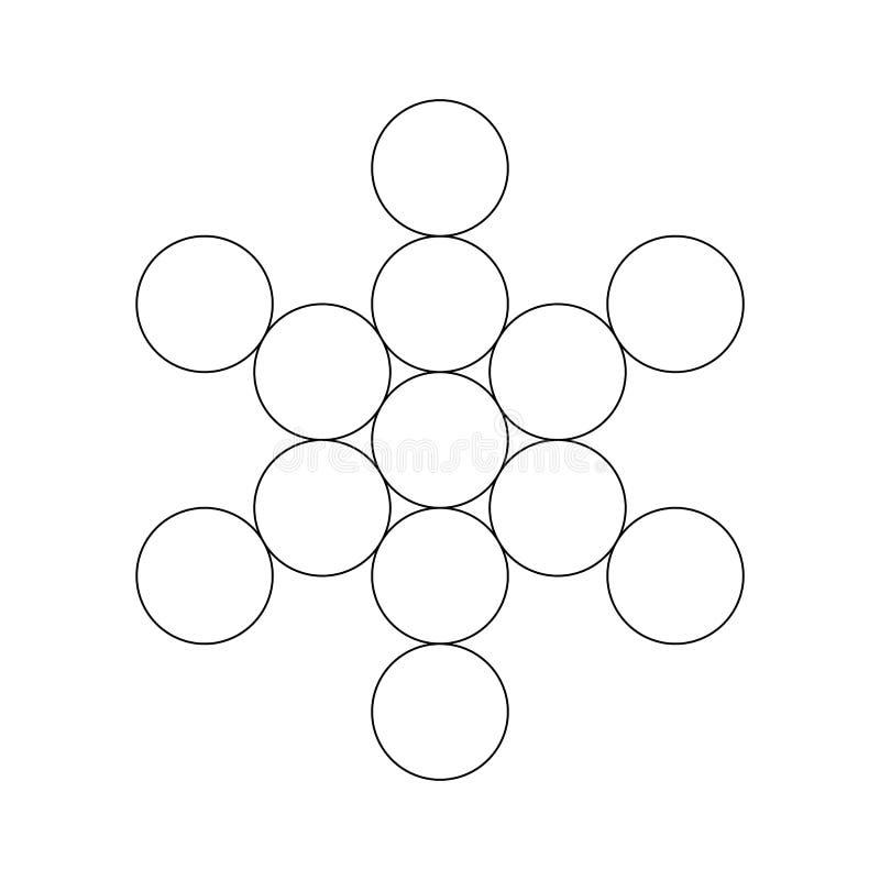 Elemento sagrado do cubo de Metatron da geometria Ilustração do vetor ilustração stock