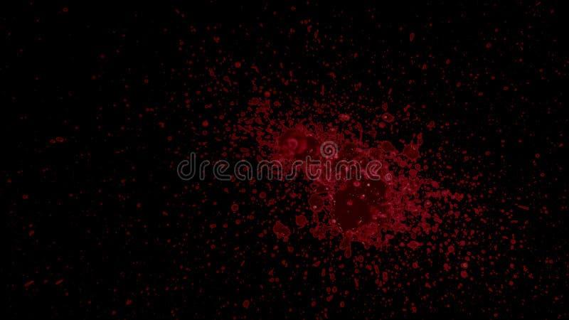 Elemento salpicado de la sangre imagen de archivo
