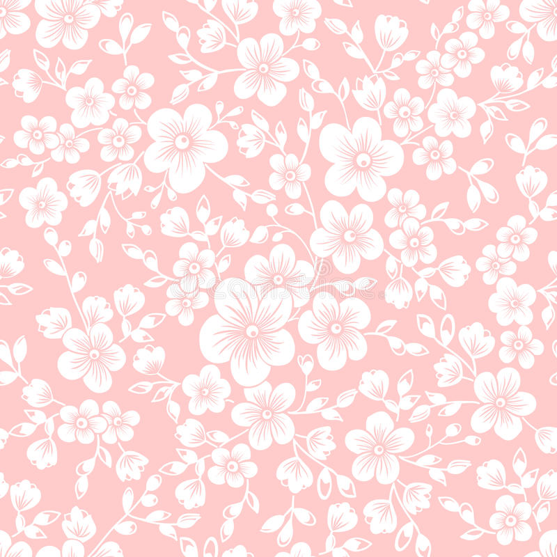 Elemento sem emenda do teste padrão da flor de sakura do vetor Textura elegante para fundos Cherry Blossom ilustração do vetor
