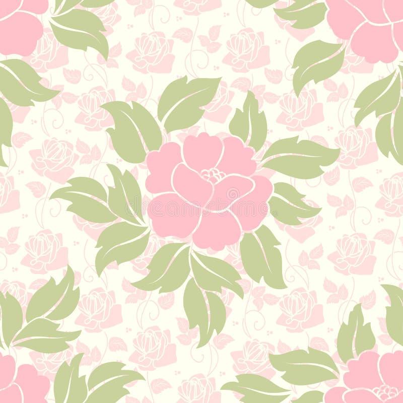 Elemento sem emenda do teste padrão da flor do vetor Textura elegante para fundos ilustração royalty free