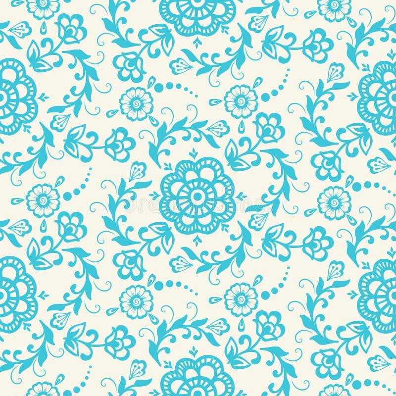 Elemento sem emenda do teste padrão da flor do vetor Textura elegante para fundos ilustração do vetor