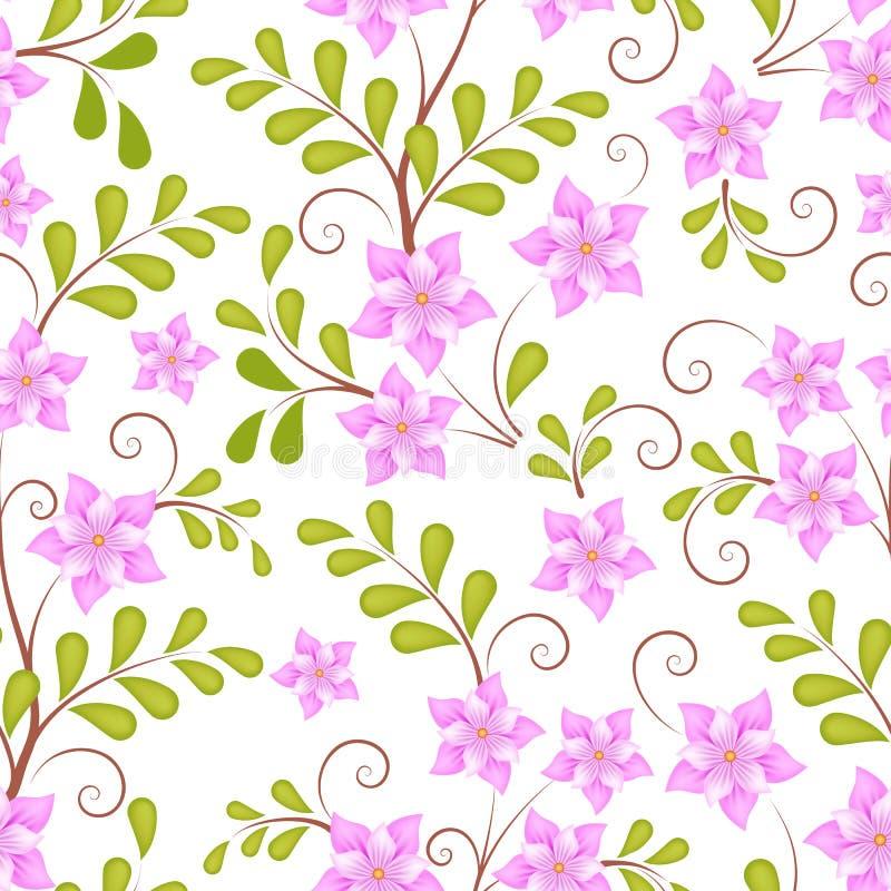 Elemento sem emenda do teste padrão da flor do vetor Textura elegante para fundos ilustração stock