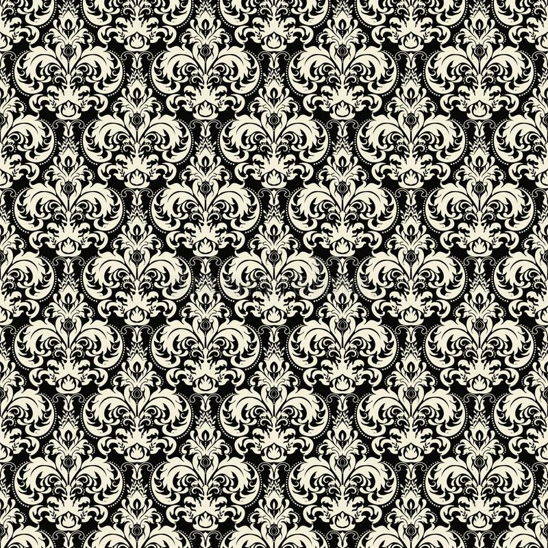 Elemento sem emenda do teste padrão do damasco do vetor A textura luxuosa elegante para papéis de parede, os fundos e a página en ilustração royalty free