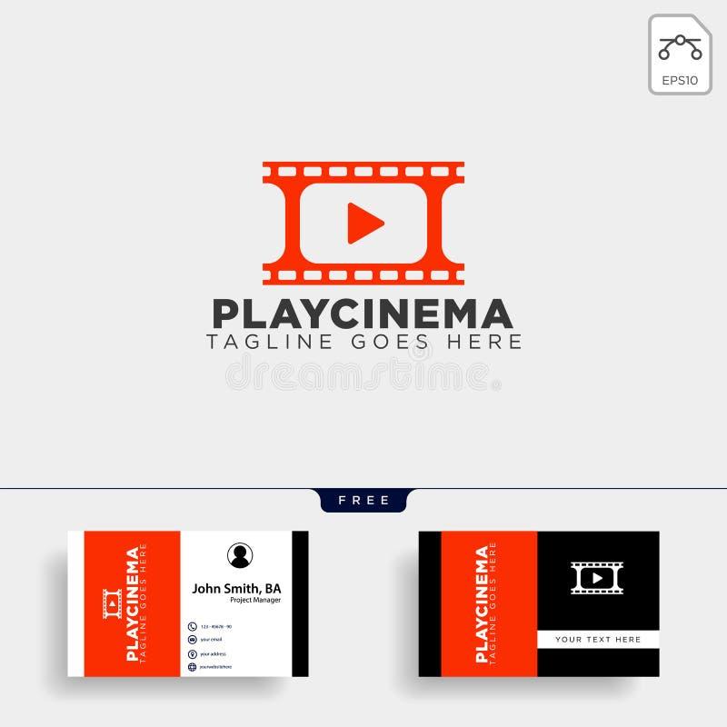 elemento semplice dell'icona dell'illustrazione di vettore del modello di logo del cinema di media del gioco illustrazione di stock