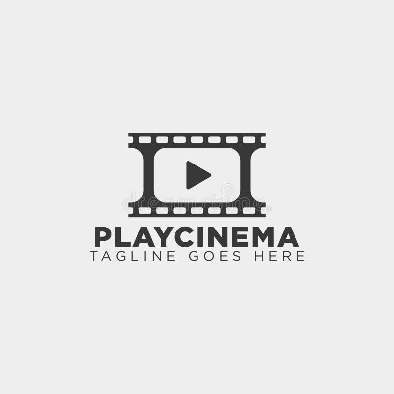 elemento semplice dell'icona dell'illustrazione di vettore del modello di logo del cinema di media del gioco royalty illustrazione gratis