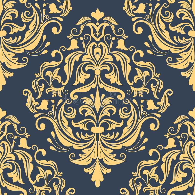 Elemento senza cuciture del modello del damasco di vettore royalty illustrazione gratis