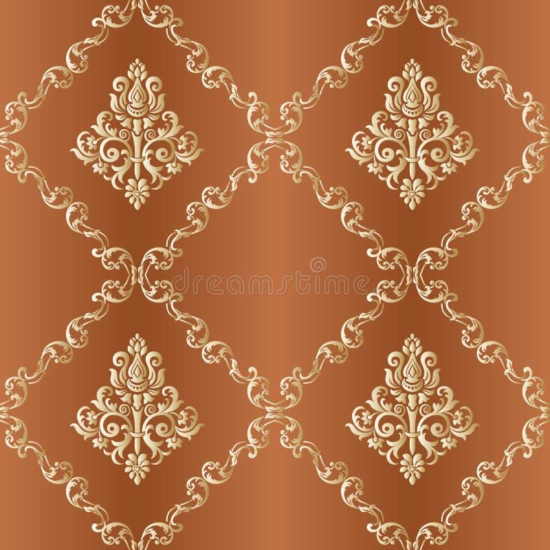 Elemento senza cuciture floreale del reticolo dell'annata di vettore Indiano, Islam, arabo illustrazione vettoriale