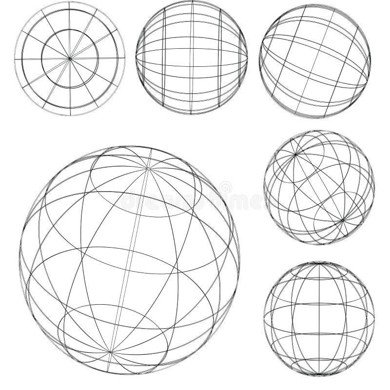 Elemento-sfere originali del globo illustrazione di stock
