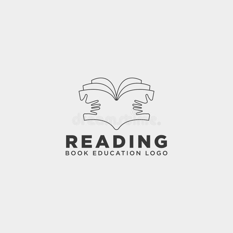 elemento simple del icono del ejemplo del vector de la plantilla del logotipo de la educación de la revista del libro de lectura ilustración del vector