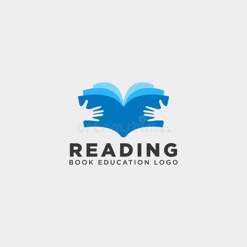 elemento simples do ícone da ilustração do vetor do molde do logotipo da educação do compartimento do livro de leitura ilustração royalty free