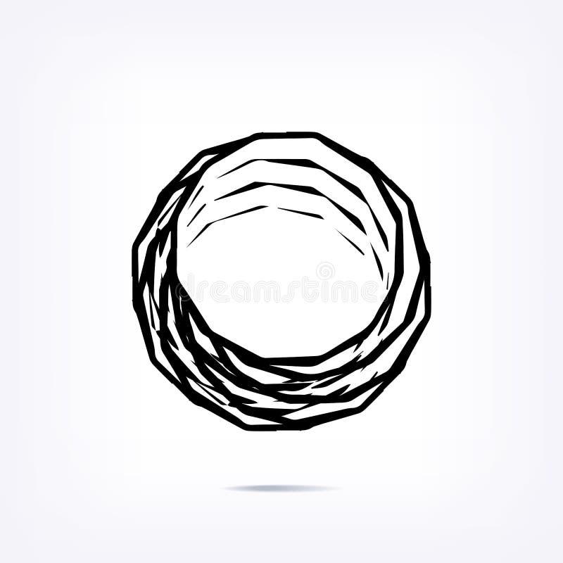 Elemento torto turbinio astratto su fondo bianco royalty illustrazione gratis
