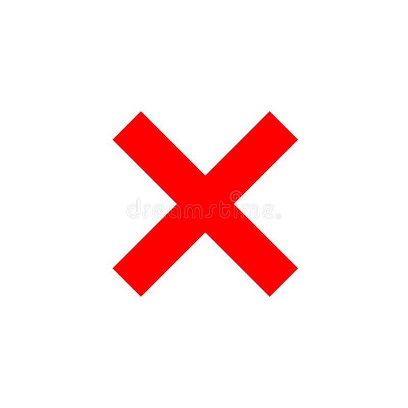 Elemento transversal do vermelho do sinal ilustração stock
