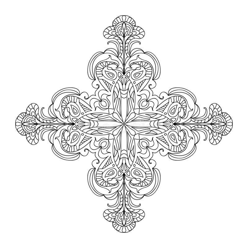 Elemento trasversale astratto della mandala royalty illustrazione gratis