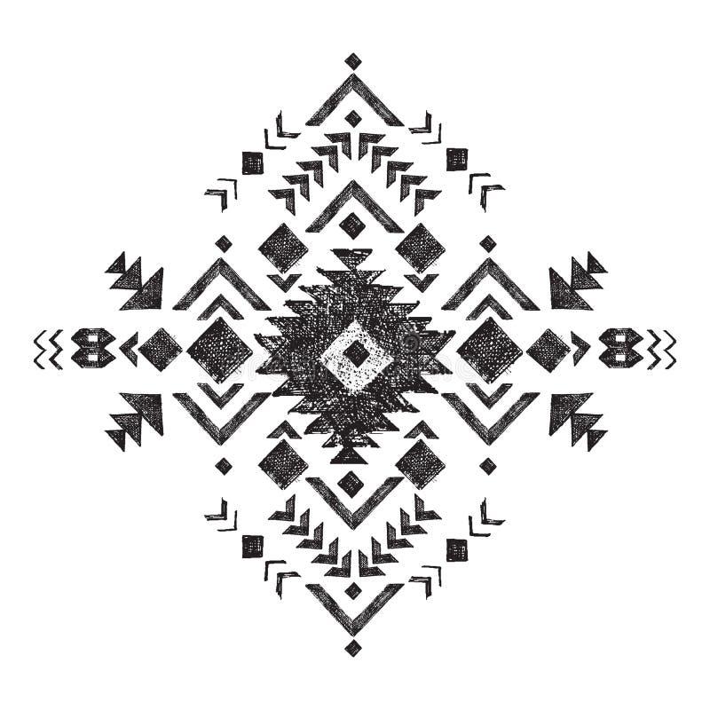 Elemento tribal tirado mão do projeto ilustração royalty free