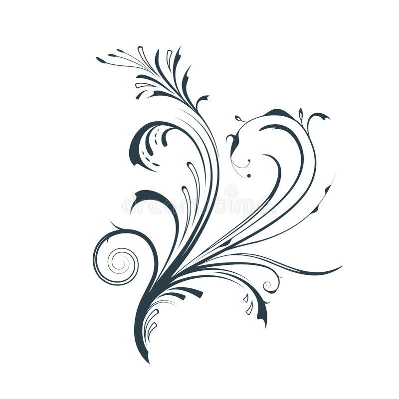 Elemento Vectorized do projeto do rolo ilustração stock