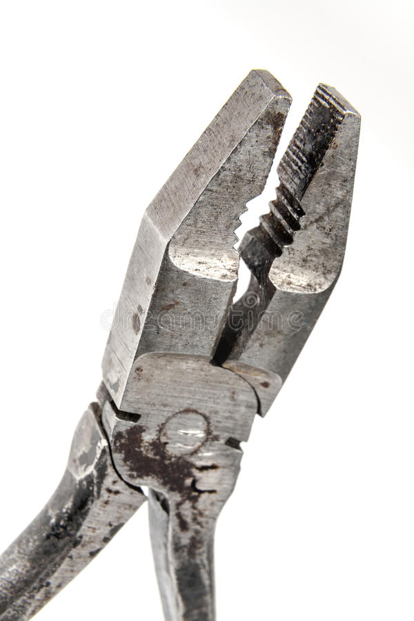 Elemento velho dos alicates e do cortador de fio foto de stock