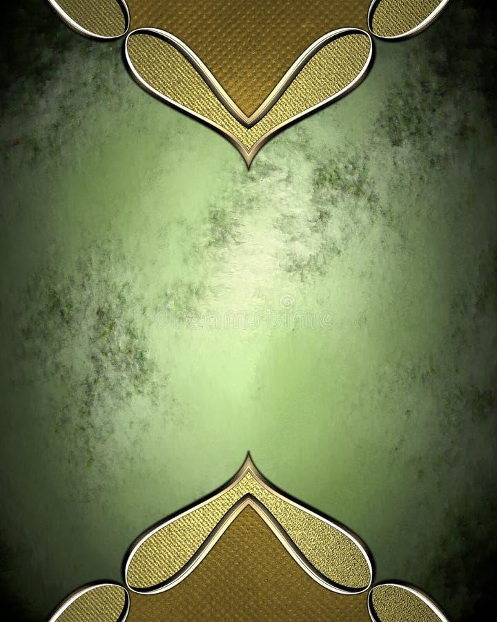 Elemento verde da placa de identificação para o projeto Molde para o projeto copie o espaço para o folheto do anúncio ou o convit ilustração stock