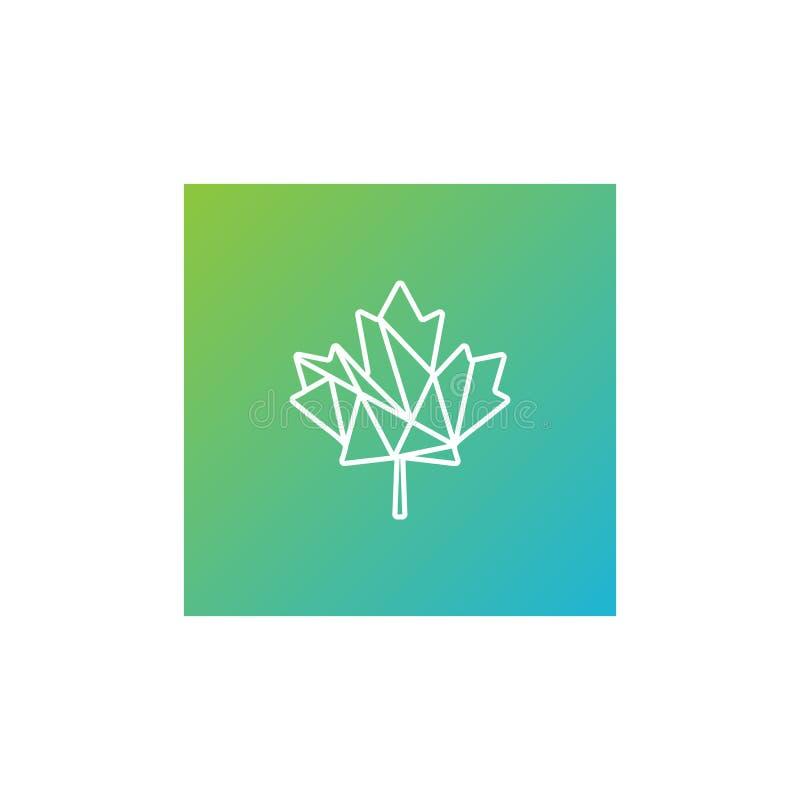 elemento verde del icono del ejemplo de la plantilla del logotipo del c??amo de la hoja libre illustration