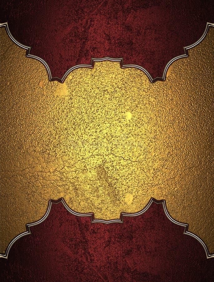 Elemento vermelho para o projeto Molde para o projeto copie o espaço para o folheto do anúncio ou o convite do anúncio, fundo abs ilustração stock