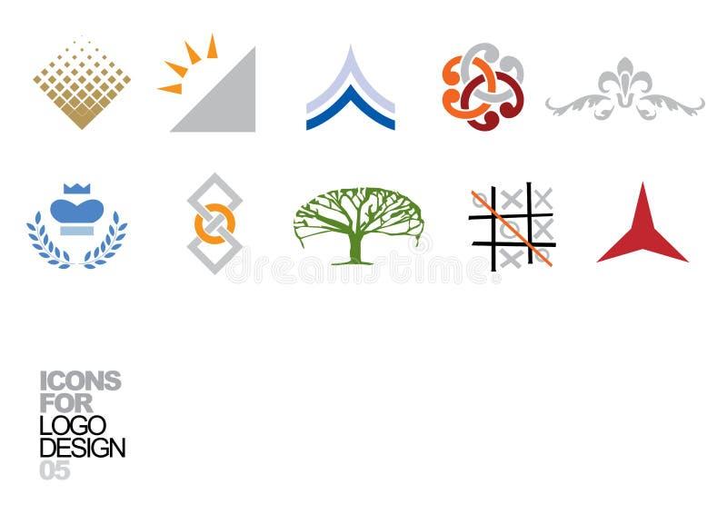 Elementos 05 del vector del diseño de la insignia stock de ilustración