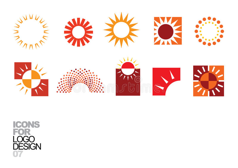 Elementos 07 del vector del diseño de la insignia stock de ilustración