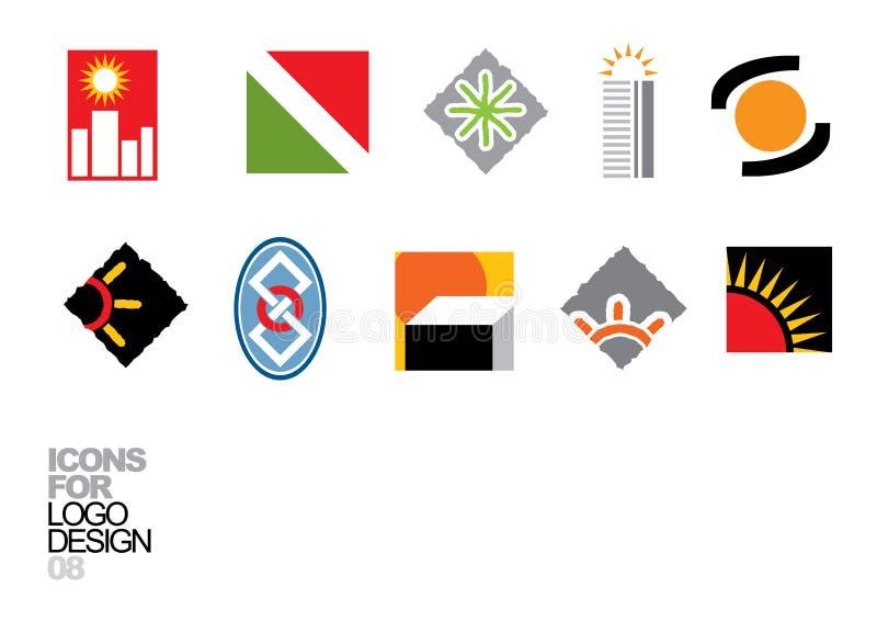 Elementos 08 del vector del diseño de la insignia stock de ilustración