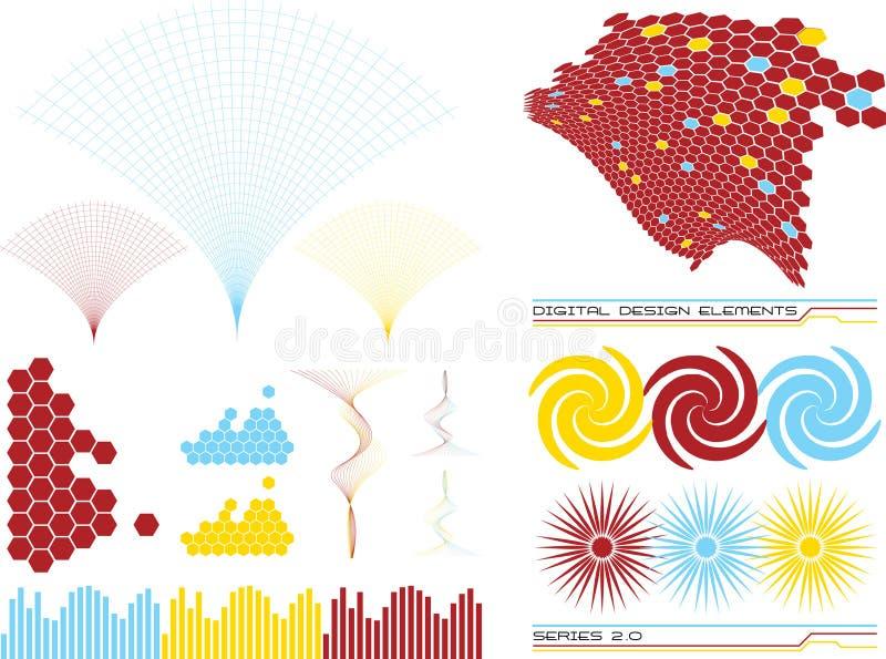Elementos 2 do projeto ilustração stock