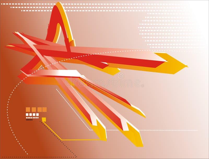 elementos 3d ilustración del vector