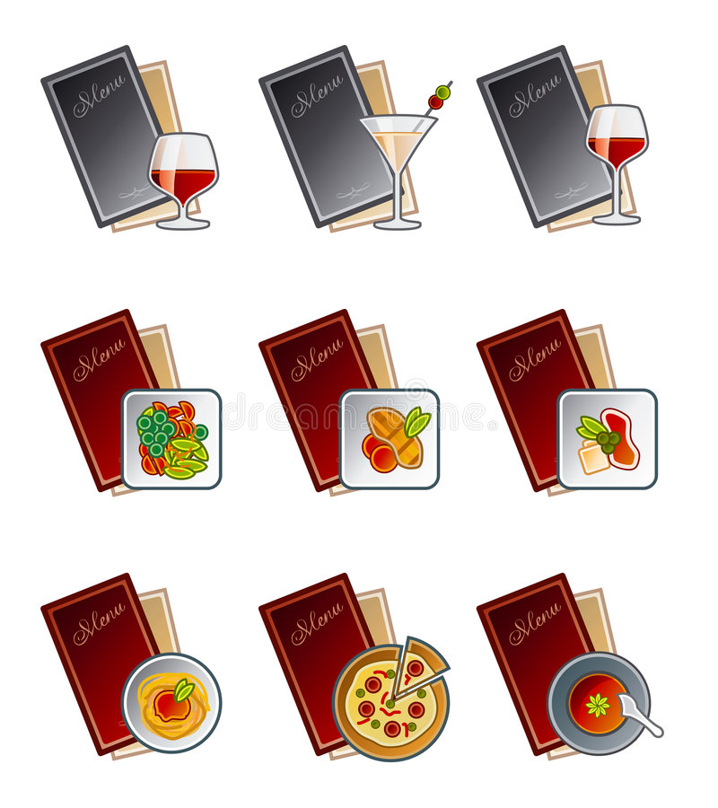Elementos 47c del diseño. Iconos del menú fijados ilustración del vector