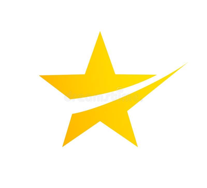 Elementos abstractos de la plantilla del diseño del icono del logotipo de la estrella ilustración del vector