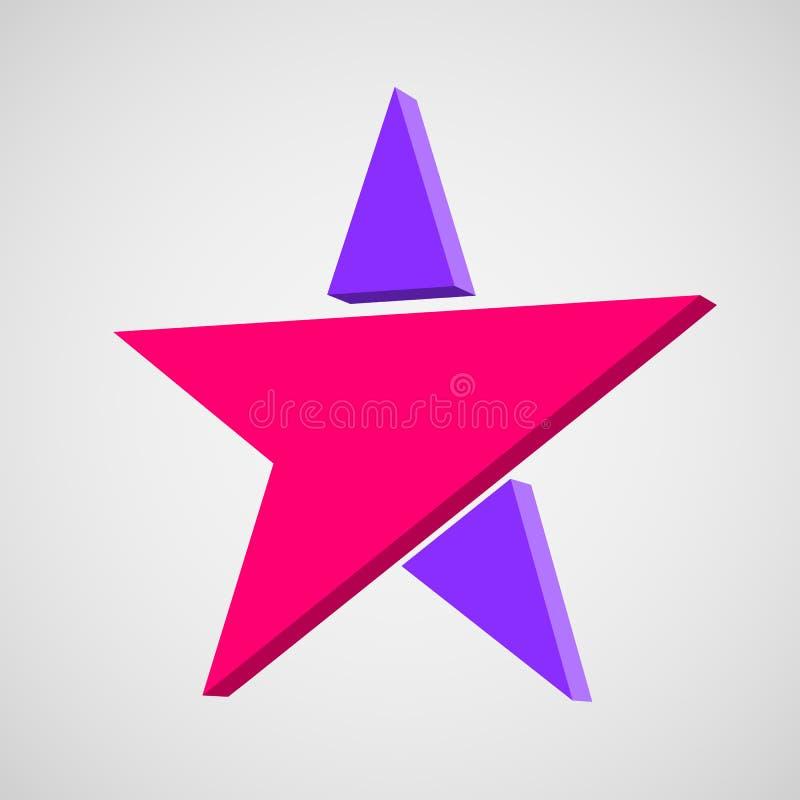 Elementos abstractos de la plantilla del diseño del icono del logotipo de la estrella stock de ilustración