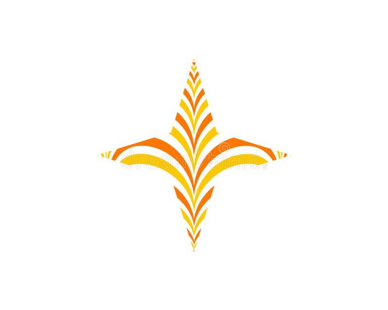 Elementos abstractos de la plantilla del diseño del icono del logotipo de la estrella libre illustration