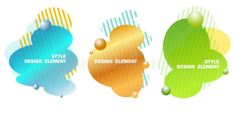 Elementos abstractos del diseño para los gráficos y sitios del web, rayas, pendientes y descensos abstractos Sistema de los eleme ilustración del vector