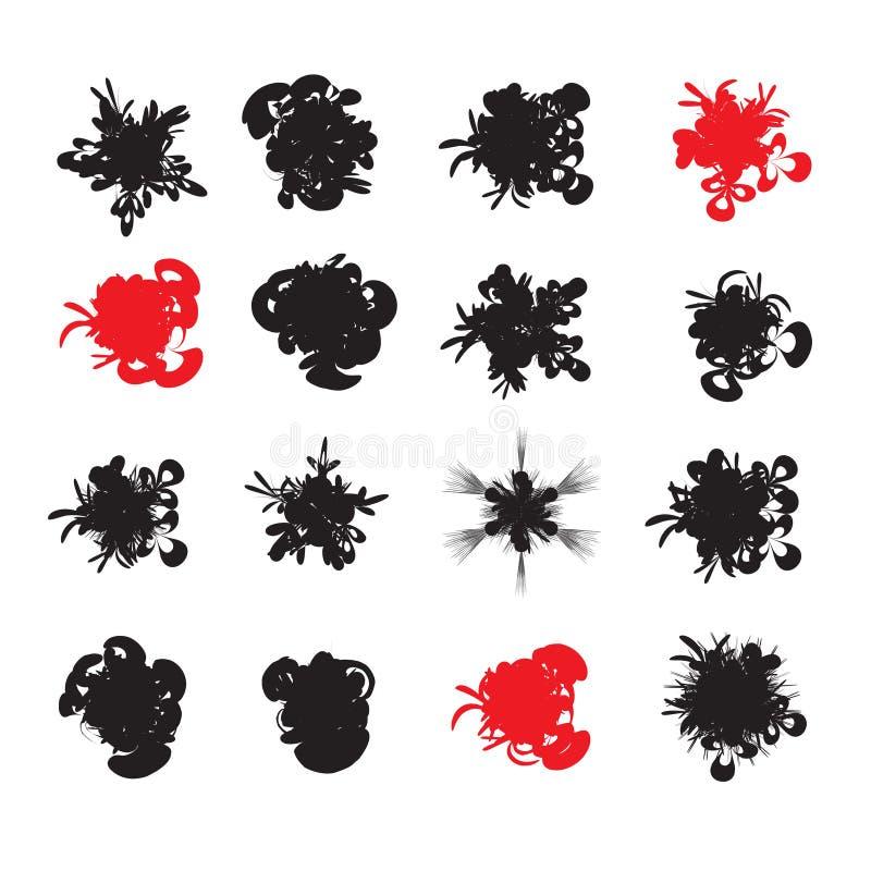Elementos abstractos sucios stock de ilustración