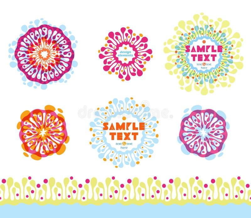 Elementos abstratos coloridos do projeto ilustração stock