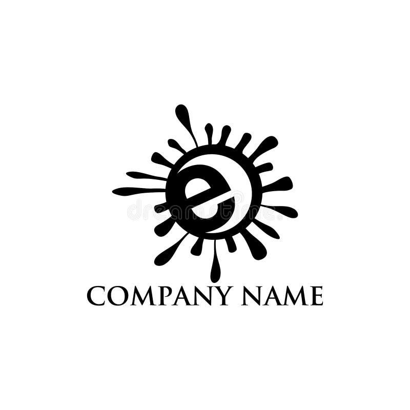Elementos abstratos do molde do projeto do logotipo da letra e Letra abstrata E Vetor incorporado do projeto do logotipo da letra ilustração stock