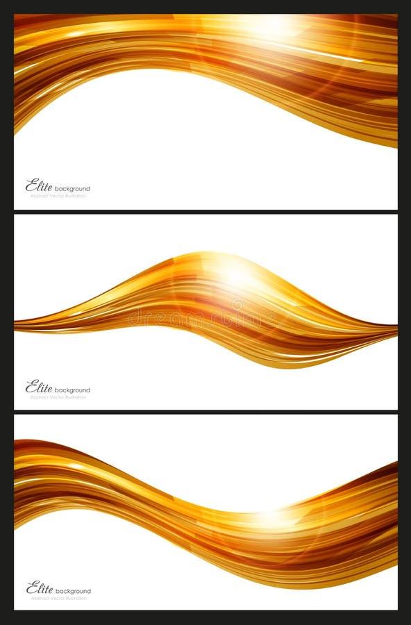 Elementos Abstratos Do Ouro Para O Fundo Imagens de Stock Royalty Free