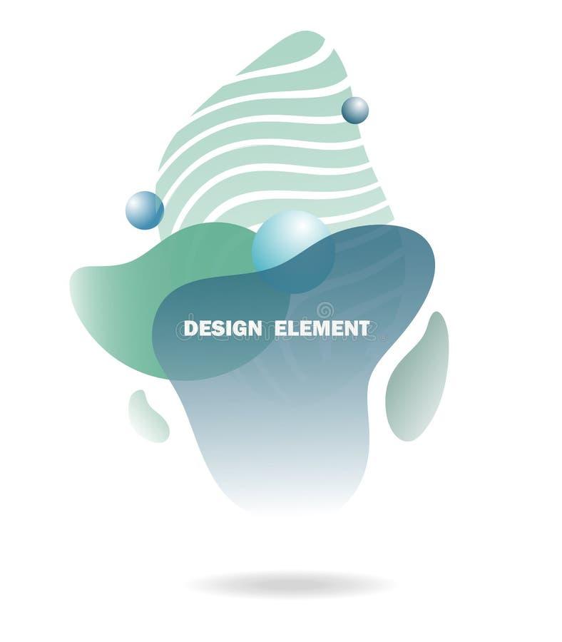 Elementos abstratos do projeto para gráficos e locais da Web, listras, inclinações e gotas abstratas Grupo de elementos gráficos  ilustração do vetor