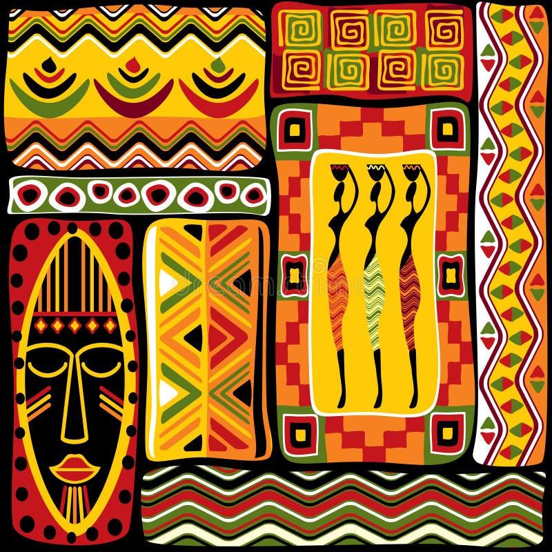 Elementos africanos del diseño ilustración del vector