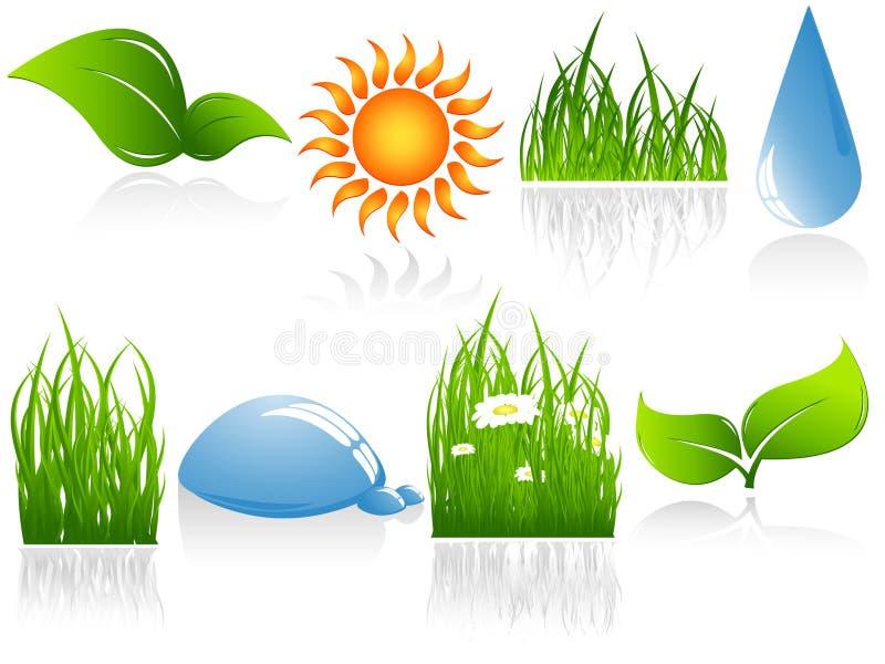 Elementos ambientais do vetor ilustração royalty free