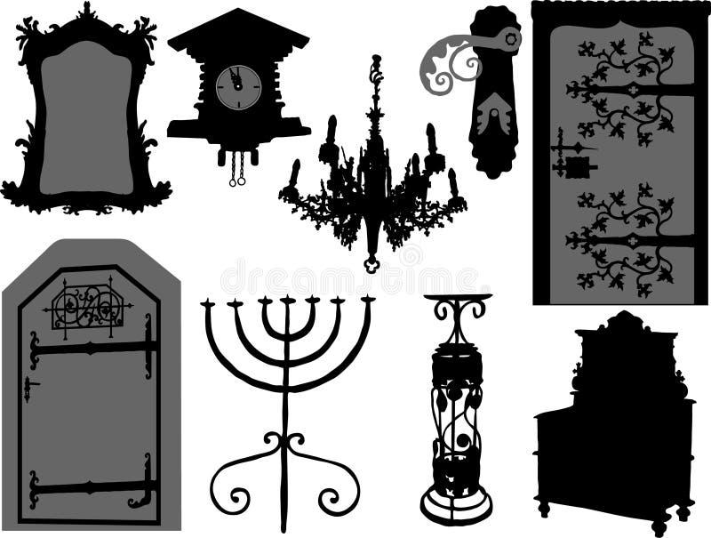 Elementos antigos ilustração stock