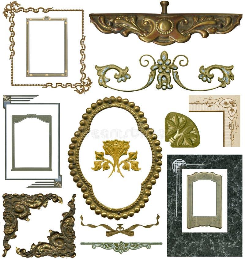 Elementos antiguos 2 del diseño imagenes de archivo