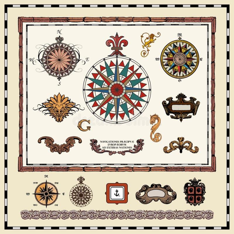 Elementos antiguos de la correspondencia fotografía de archivo libre de regalías