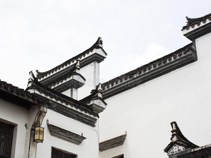 Elementos arquitectónicos del diseño del chino tradicional imagenes de archivo