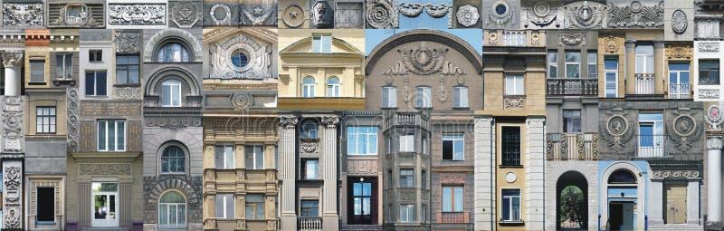 Elementos arquitectónicos do vintage do papel de parede imagem de stock royalty free