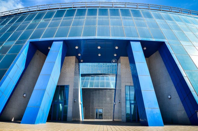 Elementos arquitectónicos y partes abstractas de edificios y estructuras en Astaná Kazajistán fotografía de archivo libre de regalías