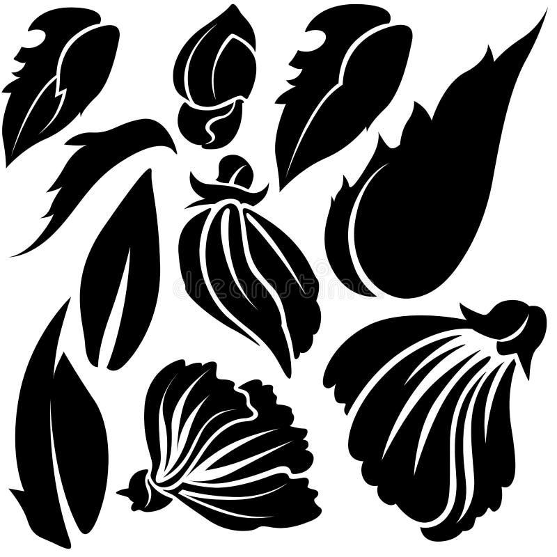 Elementos B de la flor libre illustration